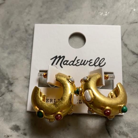 Madewell inlaid chunky small hoop